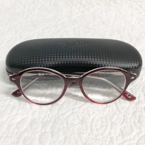 RayBan prescription glasses with the case